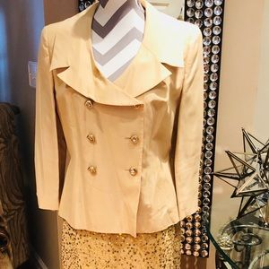 Dresses & Skirts - 🤩Gold Suit w/Rhinestone Buttons and Sequin Skirt